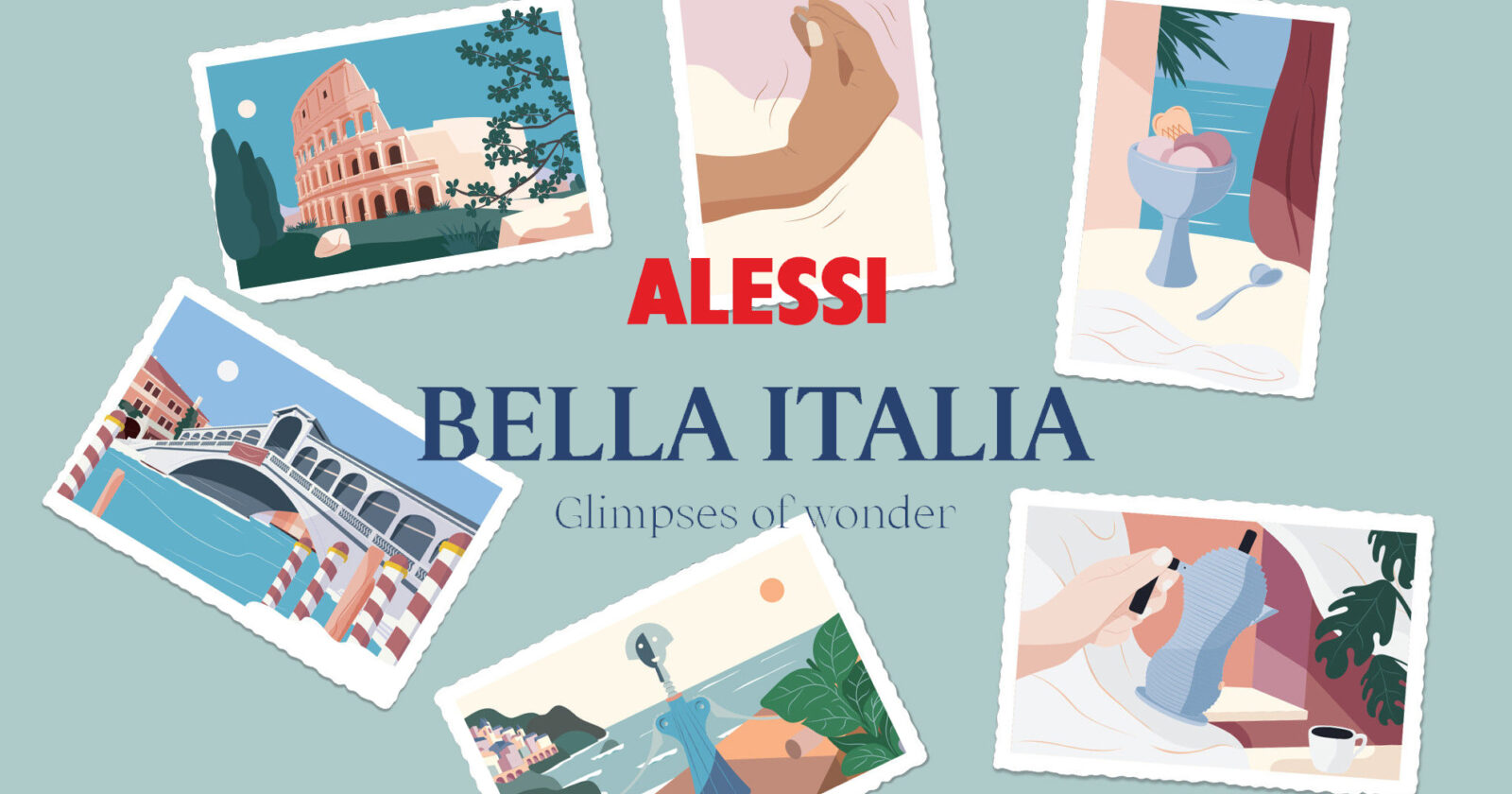 Alessi bella italia postal cards